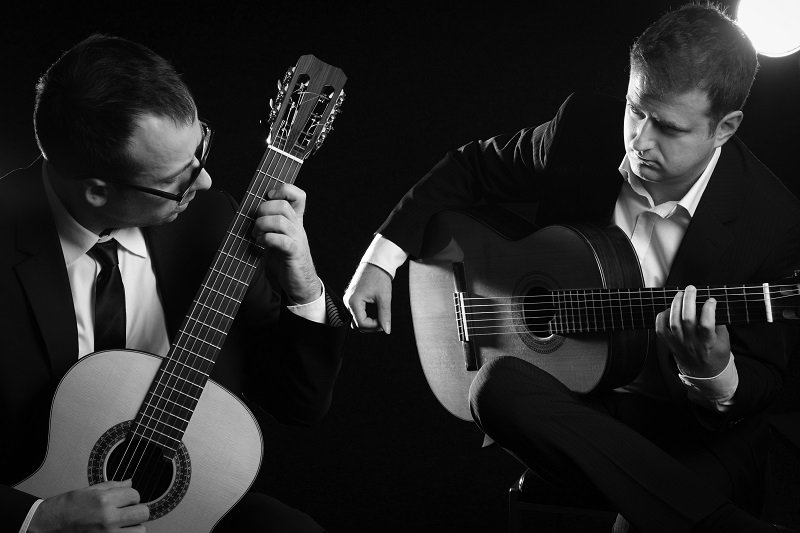Montenegrin Guitar Duo ref 2BW please credit Shayne Gray
