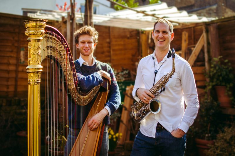 Huw Wiggin (saxophone) And Oliver Wass (harp)