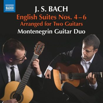 Naxos Montenegrin Guitar Duo Bach English Suites II CD Cover